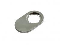 Адаптер для 2-ух стеклянных дверей, отделка никель глянец